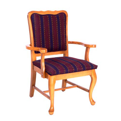 Queen Anne Curved Top Arm Chair