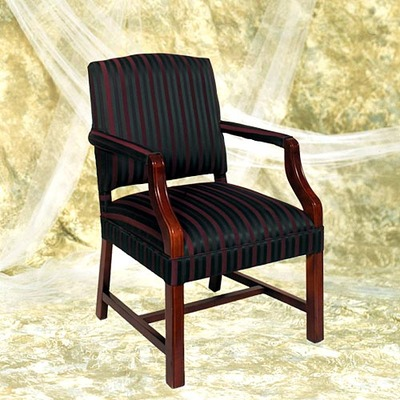 Chippendale Occasional Chair With Upholstered Arm