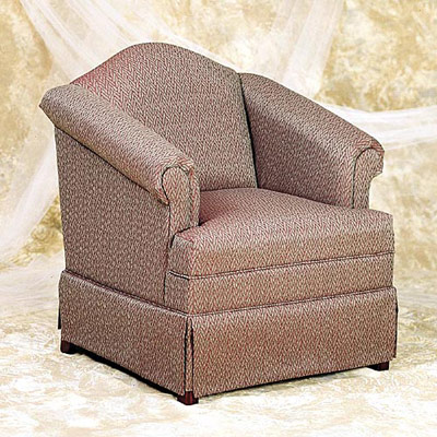 Skirted Camelback Chair