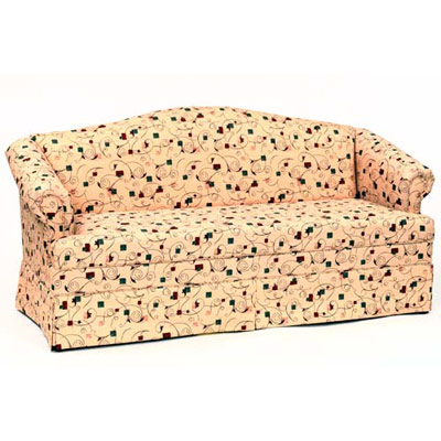 Lancaster Camelback Sofa with Skirt