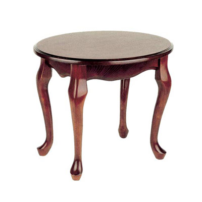 QUEEN ANNE OVAL END TABLE