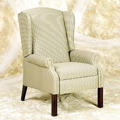 Replaceable Chippendale High-Leg Wingback 2 Pos. Recliner SEAT