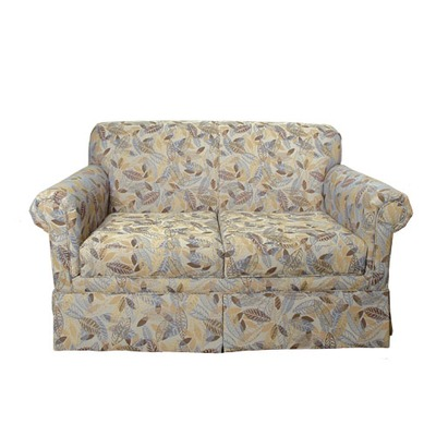 Skirted Settee With Removable Seat