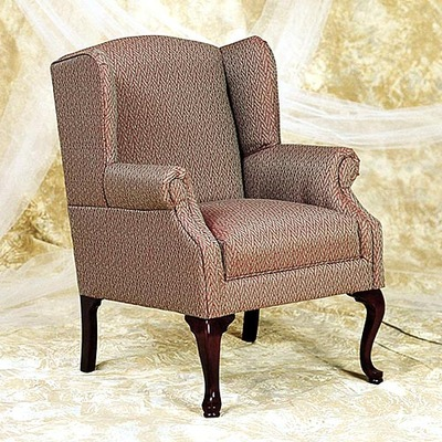 Queen Anne Lounge Chair w/ Removable Seat