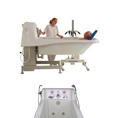Invacare Model IH6302G Pipeless Fixed Height Supine Bathing Tub (CHANGED PRICING & DIMENSIONS)